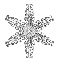 Snowflake hand drawn doodle vector image