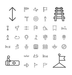 37 direction icons vector
