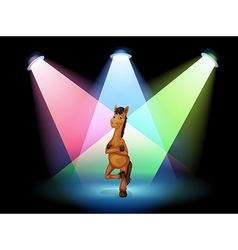 A horse standing at the stage vector image