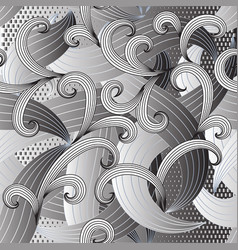 abstract intricate striped lines and swirls vector image