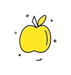 apple food furit icon design vector image