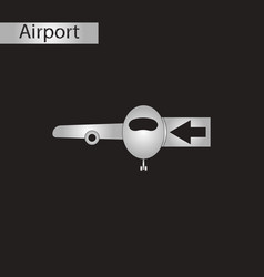 Black and white style icon passengers boarding vector