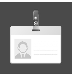 Blank Identification Card Badge ID Template vector
