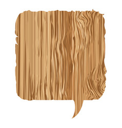 Box wood chat bubble icon vector