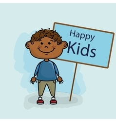boy kids happy poster vector image