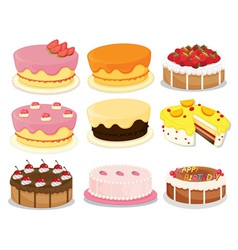 Cakes collection 2 vector image