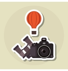 Camera and travel icon design vector