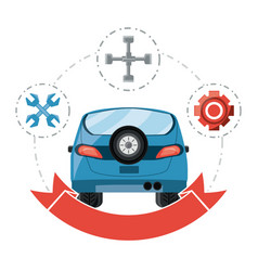 car service design vector image