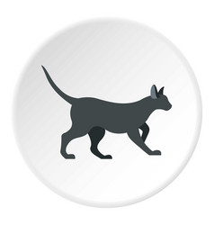 cat icon circle vector image