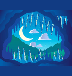 Cave theme image 3 vector