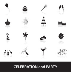 Celebration and party icons set eps10 vector
