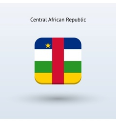 Central African Republic flag icon vector