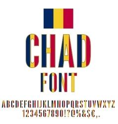Chad flag font vector