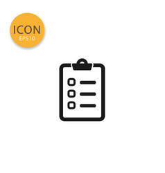 checklist icon isolated flat style vector image