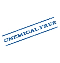 Chemical Free Watermark Stamp vector image