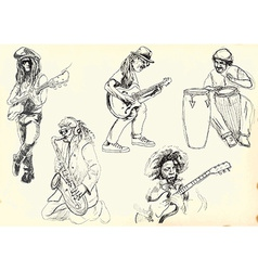 Collection - Musicians vector