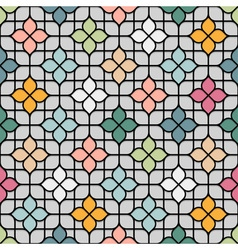 Colored seamless flower pattern in oriental style vector