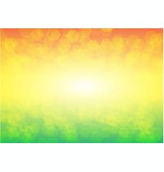 Colorful bokeh hexagon background vector