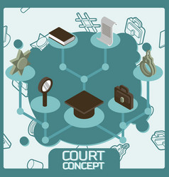 court color concept isometric icons vector image