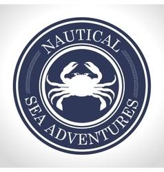 crab seal ocean traveler icon vector image