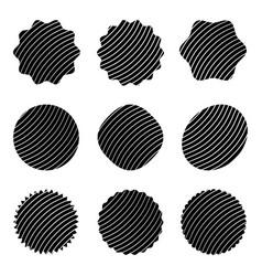 decorative stamps set grunge vector image