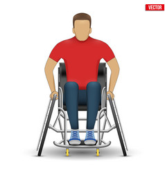 Disabled athlete in wheelchair vector