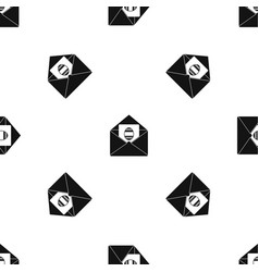 easter card pattern seamless black vector image