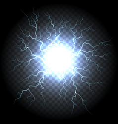 Electric ball lightning vector
