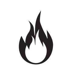 flame fire danger hot pictogram vector image