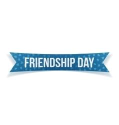 Friendship day festive blue paper label vector