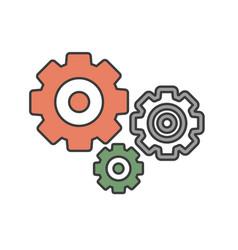 gear icon simple flat vector image