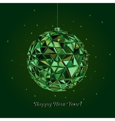 Geometric christmas ball Holidays Background vector