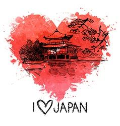 Hand drawn sketch Japanese vector