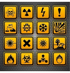 Hazardous materials symbols vector
