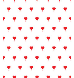 heart air balloon seamless pattern love happy vector image