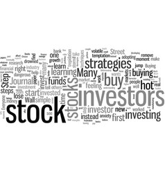 how to choose stocks vector image