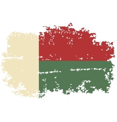 Madagascar grunge flag vector