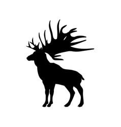 megaloceros giant reindeer silhouette extinct vector image