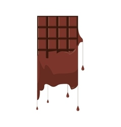 Melting candy chocolate bar icon vector