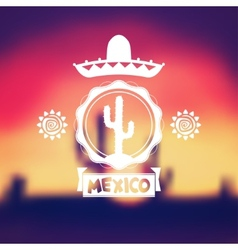 Mexico background design vector image