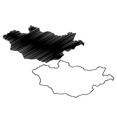 mongolia map vector image