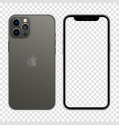 Newly released iphone 13 pro max graphite color vector