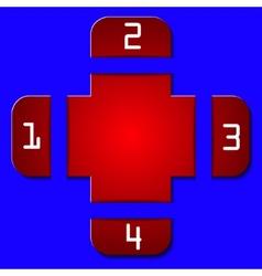 paper message pad simple clean design web vector image