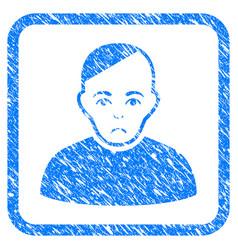 Patient framed stamp vector