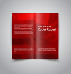 polygonal style Document template vector image