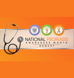 Psoriasis awareness month vector