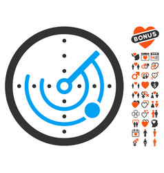 radar icon with lovely bonus vector image