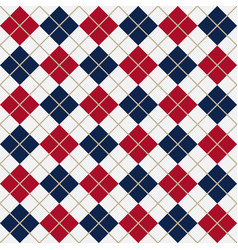 red and blue argyle harlequin seamless pattern vector image