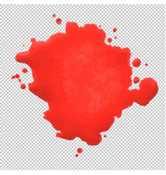 red blob vector image