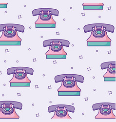 Retro telephones background vector